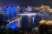Night View Of Sanya City With ...