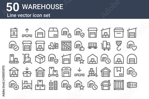 Fotografía set of 50 warehouse icons