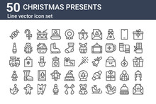 Set Of 50 Christmas Presents I...