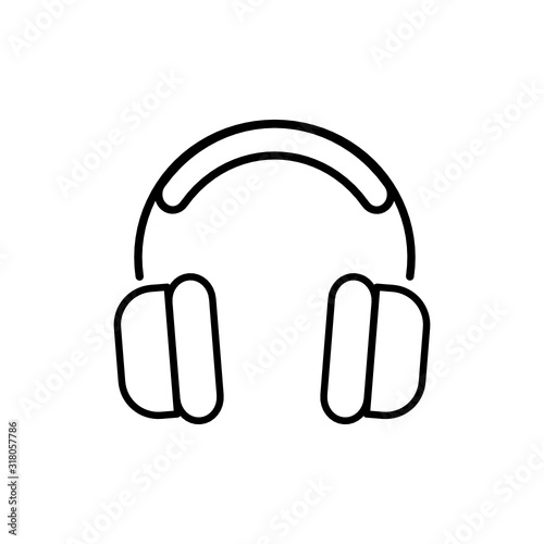 Obraz słuchawki ikona - fototapety do salonu
