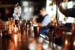 Cropped Hands Making Drink At Restaurant
