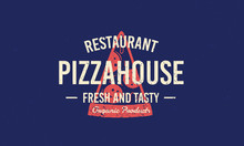 Pizza House Vintage Grunge Log...
