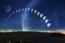 Mondphasen Mit Observatorium