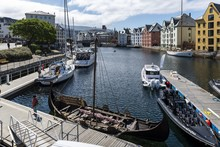Boats On A Wide Water Canal Su...