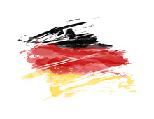 Grunge Abstract Flag Of Germany