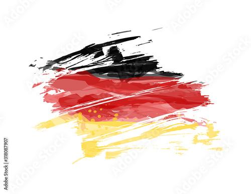 Obraz Grunge abstract flag of Germany - fototapety do salonu