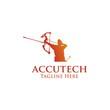 Accutech Logo Simple Business Vector