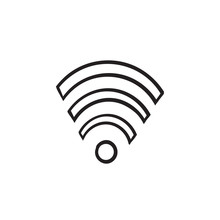 Hand Drawn Wifi Icon For Inter...