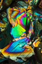 Colorful Abstract Micrograph Of Phenylalanine, An Amino Acid.