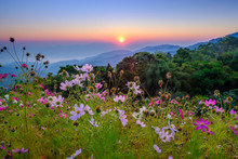 View Point From Doi Mae Taman Mountain On Morning, Chiangmai, Thailand