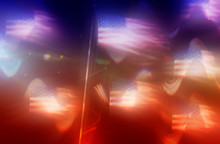 An Abstract Blurry American Fl...