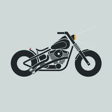 Harley Davidson Motorcycle EVO Engine.vector.illustration.