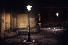 Illuminated Street At Night. O...