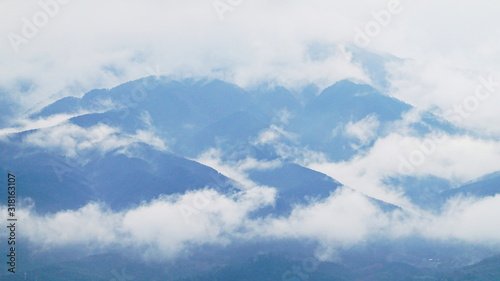 Photo 青い山脈と雲 大井松田 0576