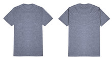 Heather Grey T Shirt Front And...