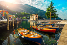 Colorful Fishing Boats On The ...