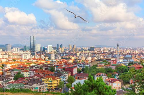 Fototapeta Umraniye district on the Asian shore of Istanbul, Turkey obraz na płótnie