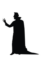 Dracula Silhouette Vector On White Background