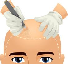 Man Head Hair Tattoo Illustration
