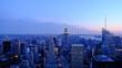 Buildings In City Against Sky At Dusk