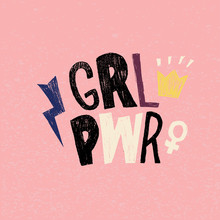 Girl Power Lettering Hand Draw...