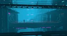 Neon Cyberpunk Future. Futuris...
