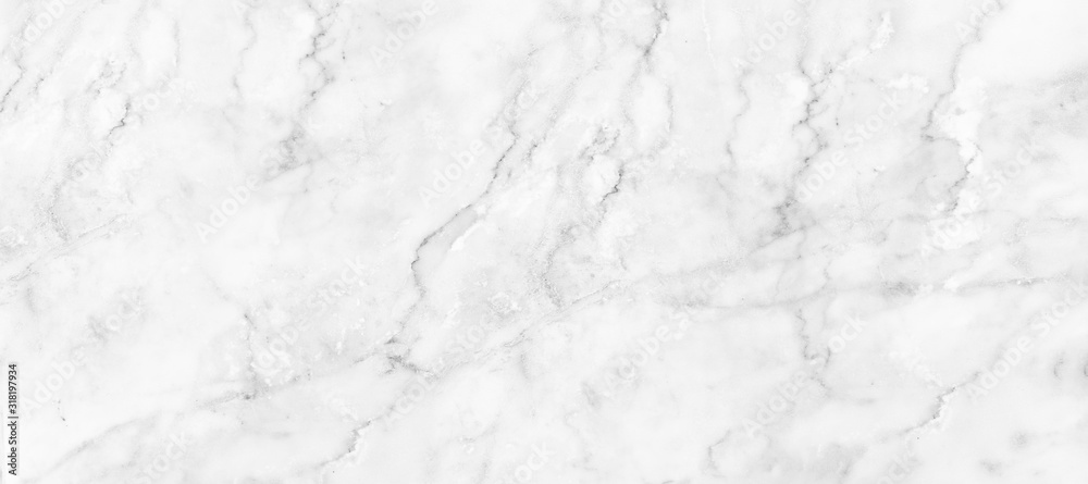 Fototapeta Marble granite white panorama background wall surface black pattern graphic abstract light elegant black for do floor ceramic counter texture stone slab smooth tile gray silver natural.