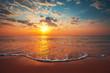 Leinwandbild Motiv Beautiful sunrise over the sea