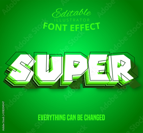 Obraz Super text, editable text effect - fototapety do salonu