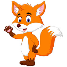 A Fox Animal Cartoon Standing ...