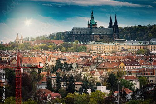 Fototapeta Praga  prague-city-view-with-buildings-czech-republic-czechia