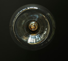 Edison Lamp In A Glass Shell A...