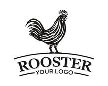 Rooster Logo Vector Template Design Illustration