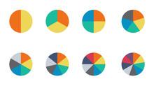 Infographic Pie Chart Set. Cyc...