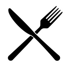 Fork And Knife Icon Isolated O...