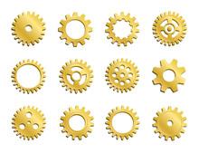 Vector Clockwork Cogwheel Coll...