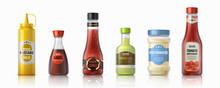 Sauce Bottles. Ketchup Mayonna...