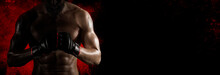 Martial Arts Fighter (MMA). Sports Banner