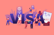 People Getting Visa Concept. T...