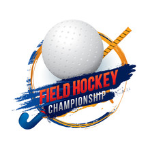 Vector Of Field Hockey Champio...