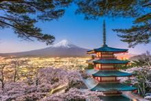 Fujiyoshida, Japan With Mt. Fu...