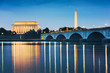 canvas print picture - Washington DC, USA Skyline on the River