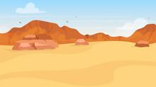 Dunes Flat Vector Illustration...