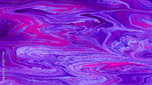 Abstract Purple Acrylic pour Liquid marble surfaces Design. - 318277148
