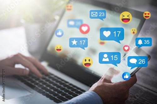 Fotomural Social media concept.