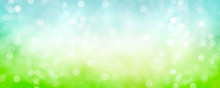 Spring Background With Green B...
