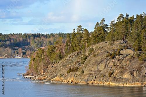 Photo Stockholm archipelago, largest archipelago in Sweden, in Baltic Sea