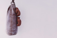 Punching Bag Hanging With Boxi...