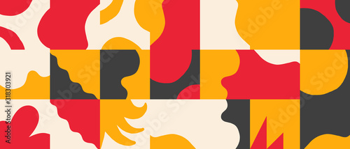 Fotografering Naive Art Vector Pattern Design