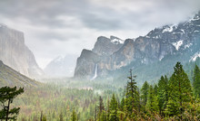 Iconic View Of Yosemite Valley...